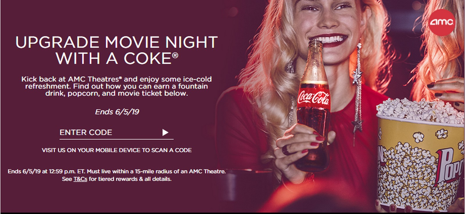 AMC With Coke Rewards Promo