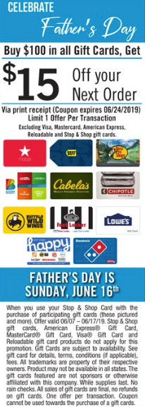 stop & shop gift card deal