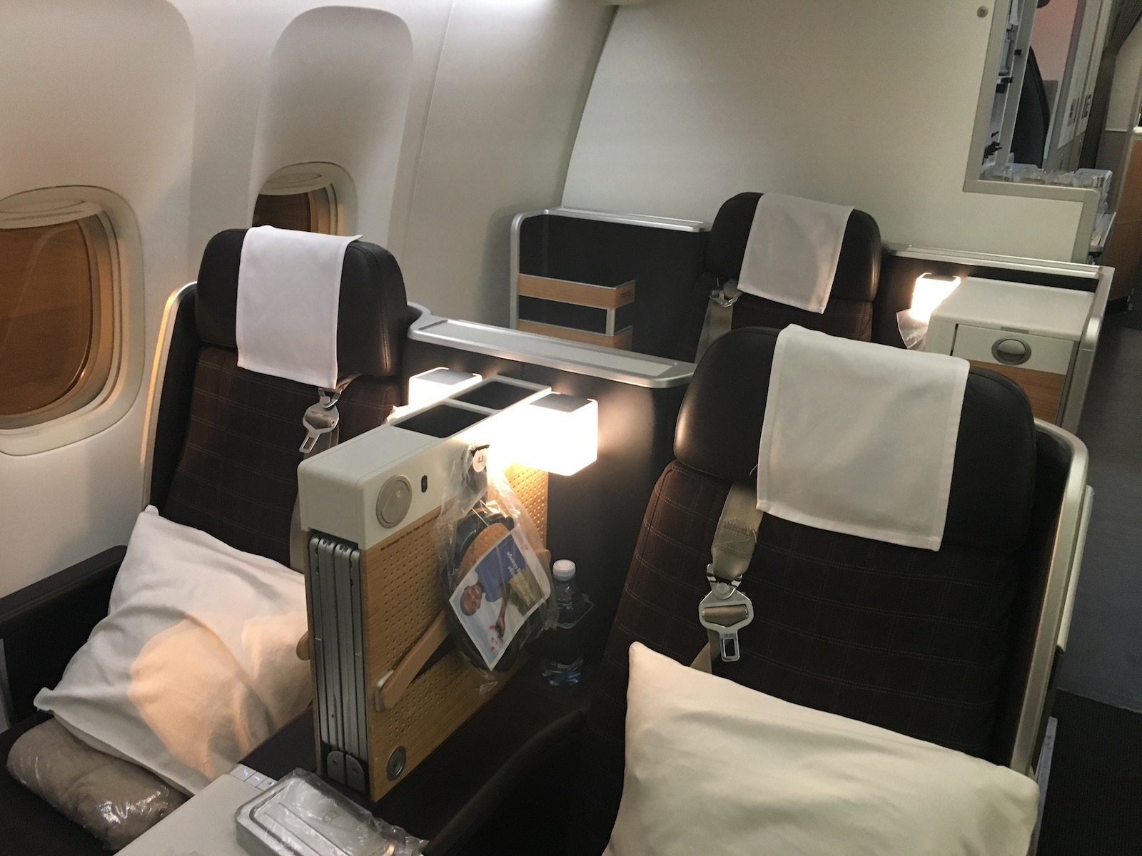 Swiss business class mini cabin