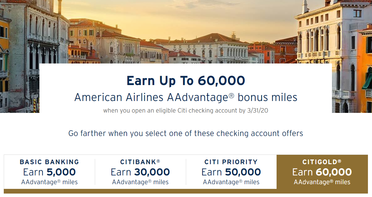 Citi Checking AA Offer
