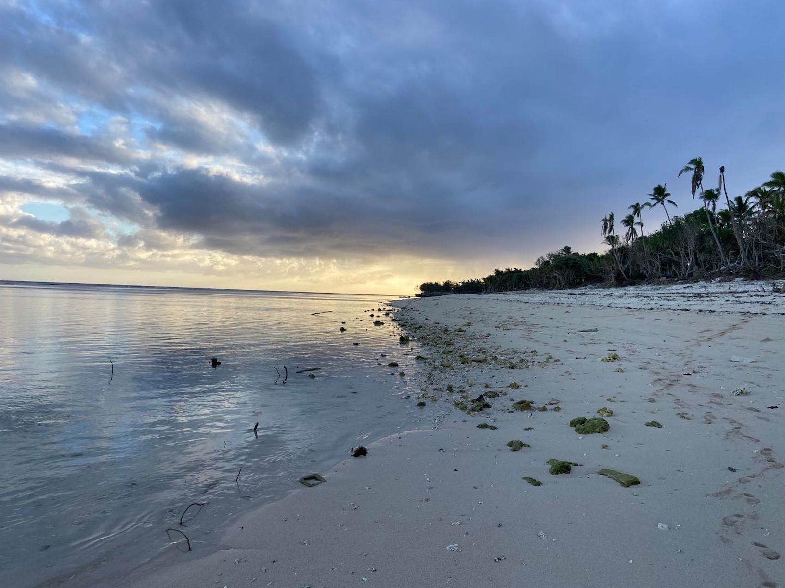 Beautiful beaches free of tourists in Tonga.